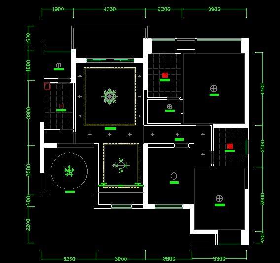 華都美林灣G6129平米裝修設計平面圖