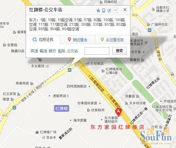 成都大型建材市场地图,图标,公交线路汇总