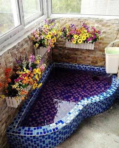 成都家装阳台鱼池个性装修设计实例