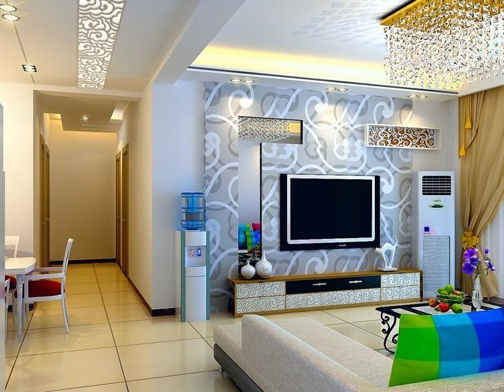 卓锦城现代风格客餐厅装修设计效果图