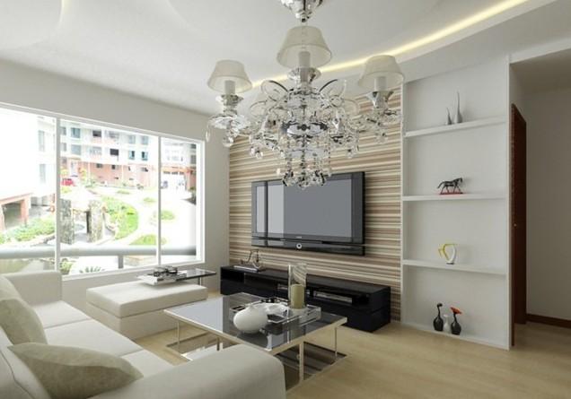 蓝谷地现代风格客厅装修设计效果图