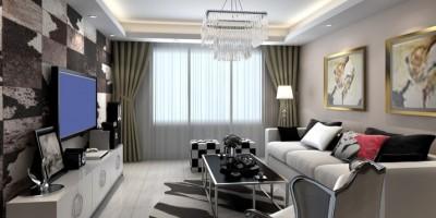 華潤二十四城小戶型客廳裝修設計效果圖