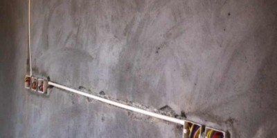 华润二十四城装修设计现场吊顶水电改造图现场施工图