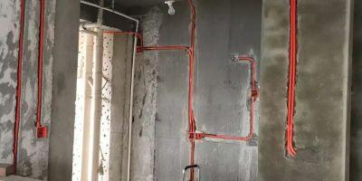 銳利領峰水電改造新建墻體改造完工圖