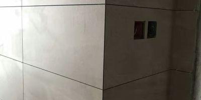成都三利云錦裝修施工現場貼磚驗收圖