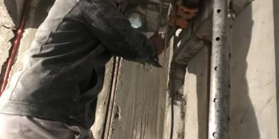 成都裝修隊施工現場圖 水電改造圖 貼磚現場圖 防水施工圖