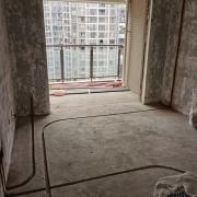 成都南城國際水電改造施工現場圖(線路開槽)