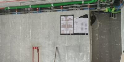 成都建发浅水湾装修|湖景房的水电改造施工现场图