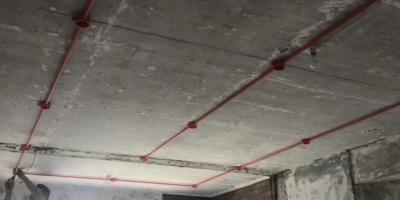 千禧河畔國際社區裝修施工現場,水電改造開槽圖
