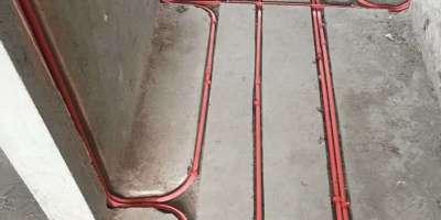 上?;▓@水電改造廚衛防水裝修施工現場圖