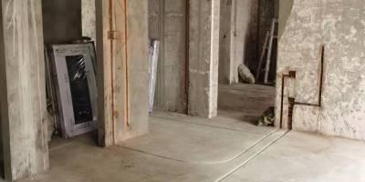 成都无国界别墅装修水电改造现场施工图